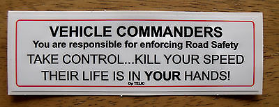 Land Rover Army Defender Wolf Wimik Snatch Vehicle Commanders Warning Sticker