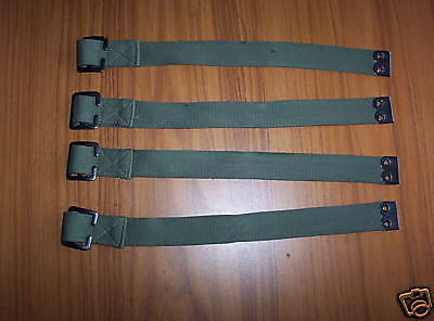 Military Army Land Rover Pioneer Impliment Straps X4 New For Tailgate Tool Kit