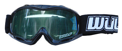 Wulfsport Cub Kids Childs MX Motorcross Abstract Goggle Black One Size BC33928 T