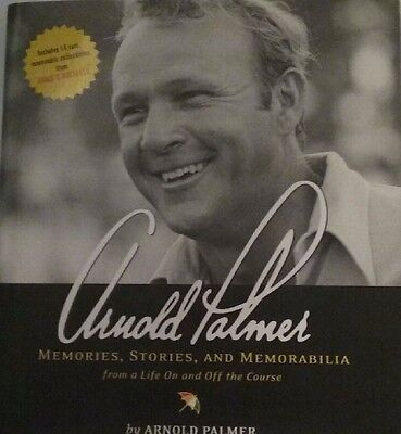 """PGA Legend Arnold Palmer autographed book """"All inserts are signed"""" RARE ITEM"""