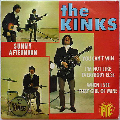 "7"" EP The Kinks - Sunny Afternoon - Frankreich 1966 - TOP RARE - VG+ to VG+(+)"