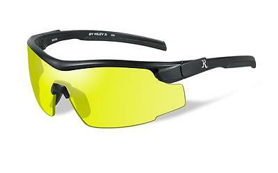 New Wiley X Adult Yellow Lens Black Frame RE102 Shooting Glasses