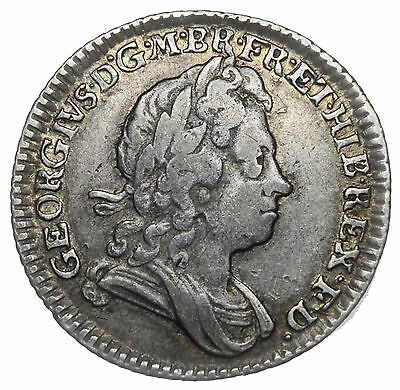 1723 Sixpence - George I British Silver Coin - Nice
