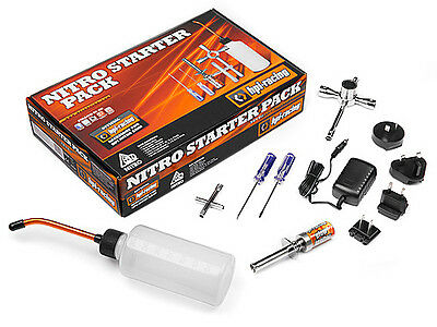 HPI Nitro Car Starter Pack Kit includes Fuel Bottle Glow Plug Igniter etc 110605