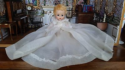 Vintage Madame Alexander Baby Genius Doll Original Christening Outfit 7""