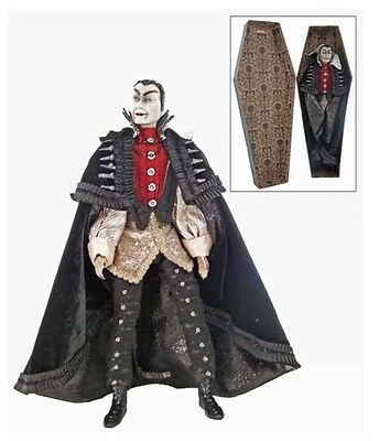 """Katherine's Collection 18"""" Count Vampire In Coffin Halloween Display Doll"""