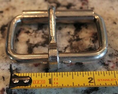 "2"" Nickel Plated / Steel Heavy Duty Roller Buckle single prong"