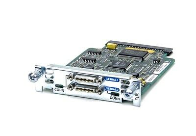 Cisco WIC-2T 2-Port Serial WAN Interface Card  1800 2800 2811 2821 3800 Routers