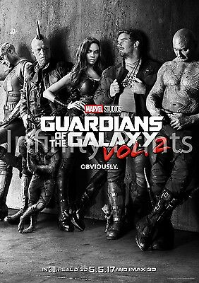 Guardians of the Galaxy Vol 2 Movie Film Poster A A2 A3 A4