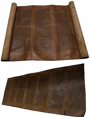ANCIENT TORAH BIBLE VELLUM MANUSCRIPT Numbers SCROLL 300 YRS MOROCCO