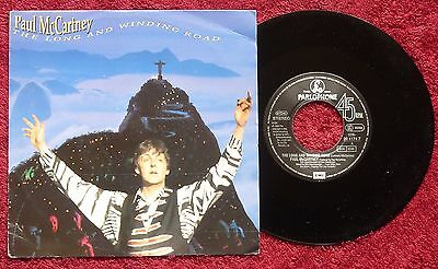 """Paul McCartney The Long And Winding Road 7"""" 45 single EX/EX EEC Pressing"""
