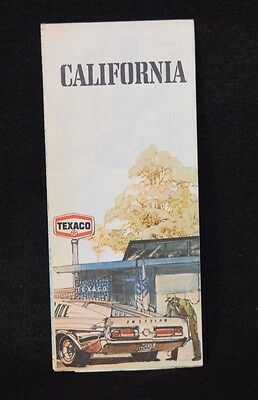 Vintage Road Map Texaco Star Shelby Mustang California 75 Car Automobile Travel
