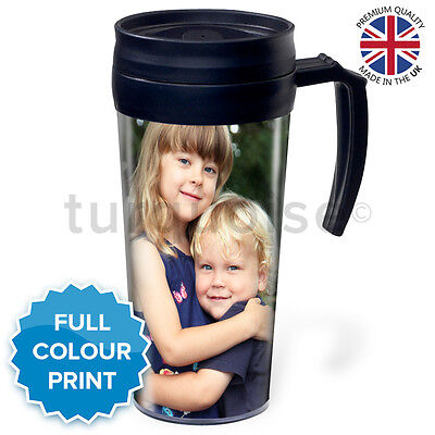 Personalised Custom Photo Gift Thermal Mugs Coffee Tea Travel Flask Cups