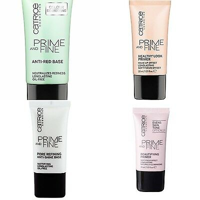 Catrice PRIME AND FINE Make Up Foundation Primer Base Green Apricot Longlasting