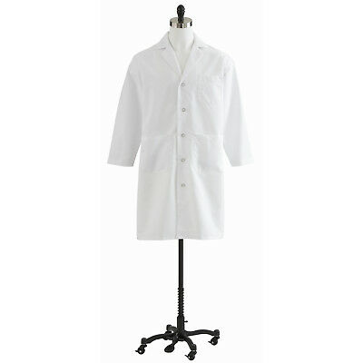 Medline Men's Full Length Lab Coat, White (Size 34-56, Regular & Tall Available)