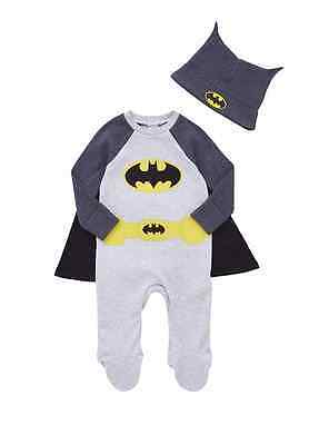 Baby Boys DC Comics Batman All in One and Beanie Set  0-24 months