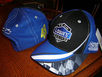 2016 Jimmie Johnson #48 Lowes Racing Salute Blue cap hat CFS NEW IN STOCK