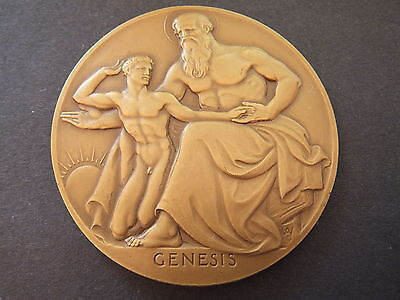 1949 Society Of Medalists Genesis 73mm Bronze Medallion By Adolph Weinman