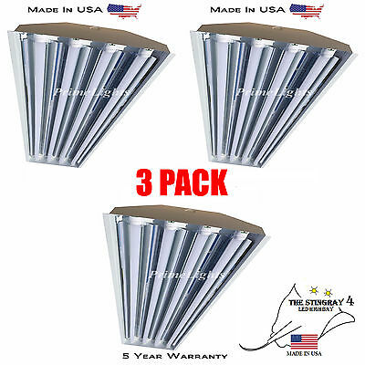 4 Lamp T8 LED High Bay 88Watt -  Warehouse, Shop, BRIGHT,  Light (QTY 3)