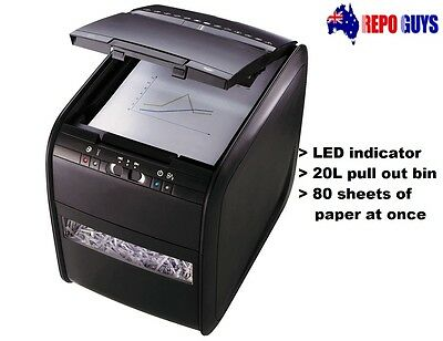 Rexel Paper Shredder Stack and Shred 80X Auto Feed Cross Cut Paper Slicer