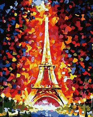 Eiffel Tower DIY Number Painting Landscape Wall Paint Decor Art Decal Home Decor