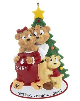 Expecting Family Personalized Christmas Tree Ornament