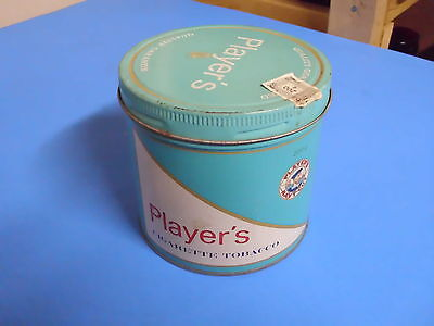 Vintage Players Cigarette Tobacco Tin Can
