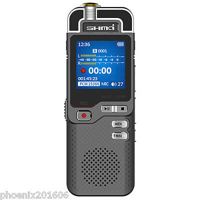 Professional Shmci musical voice recorder D60 Dictaphone stereo HIFI MP3 Player