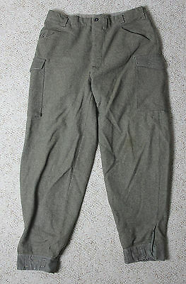 Vintage WWII Swedish Military Wool Trousers Pants Mens 38 x 32 Dated 1941