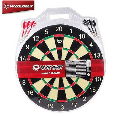 WM Professional Dart Board With 6 Darts 17 inch Double Side Dartboard Game Gift