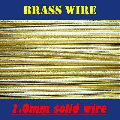 10 METRES SOLID UNCOATED BRASS WIRE, 1.0mm = 19G SWG = 18G AWG JEWELLERY BEADING