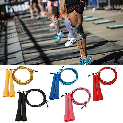 Adjustable High Speed Wire Skipping Jump Rope Fitness Sport Cardio Crossfit
