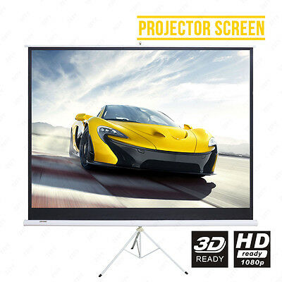 BN 120''4:3 HD Tripod Shelf Bracket Projector Screen Matte White Home Cinema