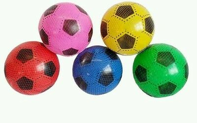 "40 pcs PVC PLASTIC FOOTBALLS 7"" FLAT PACKED UN-INFLATED 1 FREE PUMP WHOLESALE"