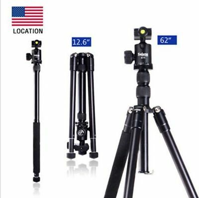 """Selens Professional 62"""" T-170 Tripod & Monopod with Ball Head for DSLR Camera"""