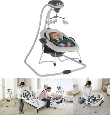 Baby Swing Bouncer Portable Comfort Infant Gear Seat Music Sounds Rocker Chair