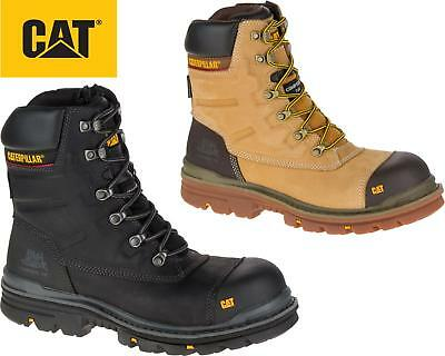 """Mens Caterpillar Premier 8"""" Waterproof S3 Composite Safety Leather Work Boots"""