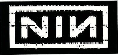 Nine Inch Nails With Teeth RARE promo sticker '05