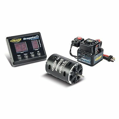 CARSON 1:10-1:12 12T Brushless Combo Set Dragster 3 Euro Cup 500906244
