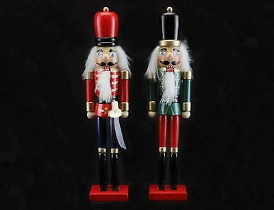 Wooden NUTCRACKER SOLDIER CHRISTMAS DECORATION Black or Red Hat by GISELA GRAHAM