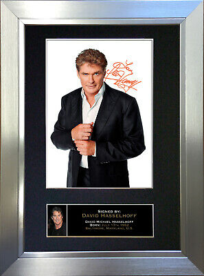 DAVID HASSELHOFF Signed Autograph Mounted Reproduction Photo A4 Print no102