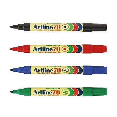 Artline 70 High Performance Colour Permanent Marker Pen 1.5mm Bullet Nib | PK 4