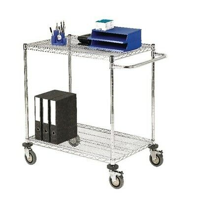 Mobile Trolley 2-Tier Chrome 372995