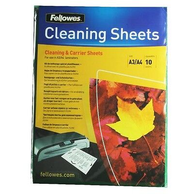 Fellowes A4 Laminator Carrier/Cleaning Sheet Pack of 10 5320601