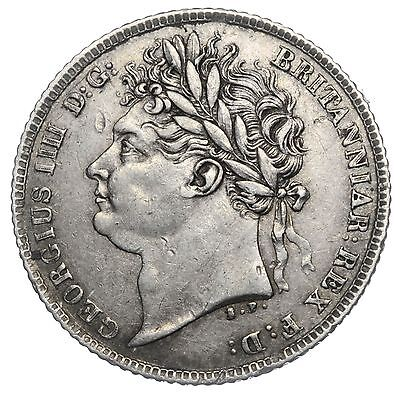 1821 Sixpence - George Iv British Silver Coin - V Nice