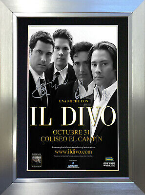 IL DIVO Signed Autograph Mounted Reproduction Photo A4 Print 185