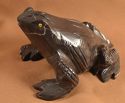 Grenouille en Onyx sculpture en pierre 120x100mm