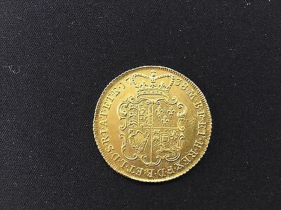 George II 1738 Two Guinea Gold Coin Very Rare Virtually as struck.