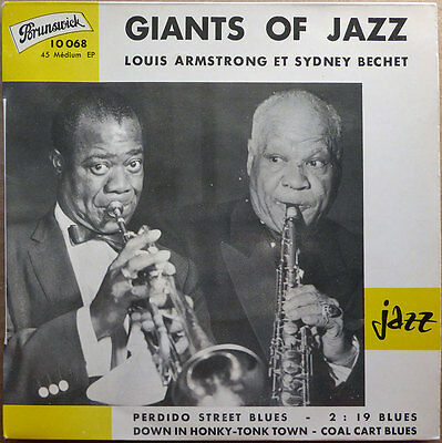 Louis Armstrong et Sidney Bechet - Giants Of Jazz - EP - VG++