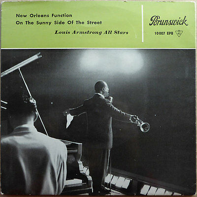 """7"""" EP Louis Armstrong All Stars - New Orleans Function - DE 1959"""